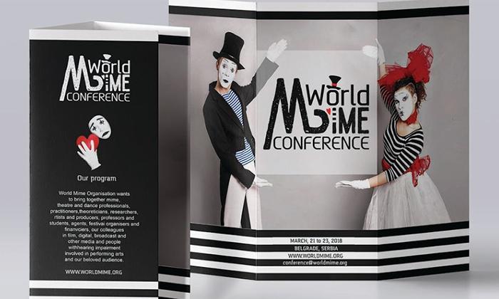 Logoul oficial ales pentru World Mime Conference