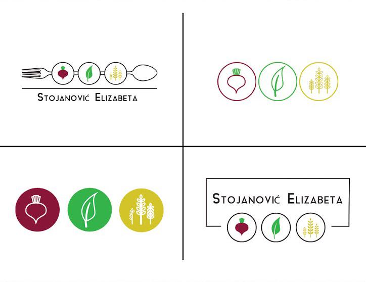Alegerea soluției câștigătoare a logoului pentru clientul nutriționist de specialitate