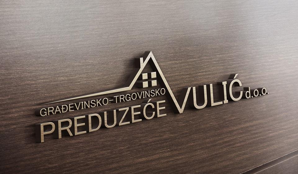 Noul logo al firmei de construcții și comerț Vulić